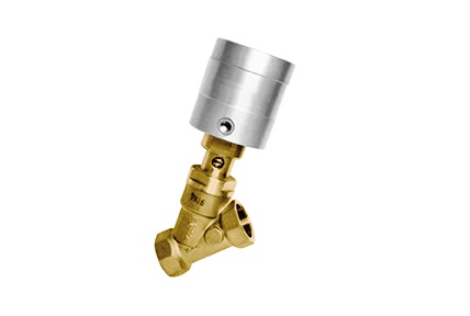 High-temperature inclined valve,  brass body.
